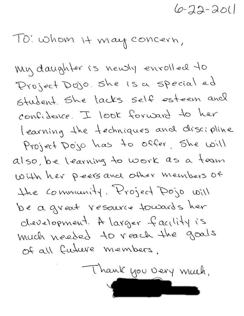 Letters Of Recommendation  Project DojoOrg